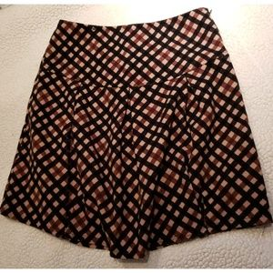 ❤ TOBI Brown Checkered School Girl Mini Skirt ❤
